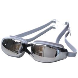 Swimwear uv online-Nuoto placcatura UV regolabile Grande placcatura del telaio Occhiali da nuoto anti-fog anti-fog