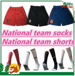 Equipos deportivos online-Selección nacional 2018 Pantalones cortos Francia Alemania Inglaterra Argentina España fútbol México Bélgica 2019 Brasil Colombia Japón home Fútbol Calcetines deportivos