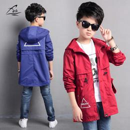 Wholesale 12 Month Boy Jacket - 2017 Spring Boys' Hooded Casual Coat School Kids Leisure Outwear Children Jacket Boys Wind Coats Teenager's Outwear 5-15 Years