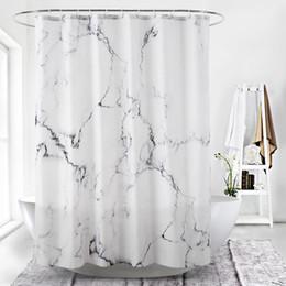 esteiras de banho estilo cartoon Desconto 3D digital marble printingwaterproof espessamento chuveiro cortinas para banheiro com fecho de plástico acessórios do banheiro para banho