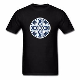 a6361197a088b fashion knot t shirt UK - Fashion Latest Knot T-Shirt Blue Cross Men Round