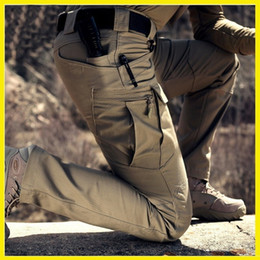 Wholesale green cargo skinny pants - Tactical Military Cargo Pants Outdoor Sports HikingTrousers Combat Multi-pockets Training Overalls Men's Cotton Pants S-3XL