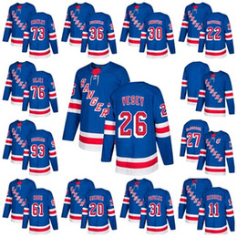 2018 AD NY New York Rangers 27 Ryan McDonagh Lundqvist Vesey 36 Zuccarello  Gretzky Kreider Buchnevich Zibanejad Skjei Miller Hockey Jersey 58187055d