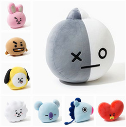 Wholesale Cushion Dolls - Kpop home Bangtan boys BTS bt21 vapp Pillow warm bolster Q back cushion Plush Doll TATA VAN COOKY CHIMMY SHOOKY KOYA RJ MANG