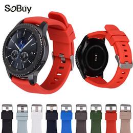 orologi in gel di gomma Sconti Quindi acquistare cinturino in silicone per Gear S3 gel di silice cinturino sportivo cinturino sostituzione cinturino Samsung Gear S 3 cinturino da polso in gomma