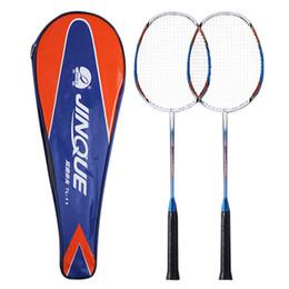 eb1db4be5 racket cover Desconto 2 Jogador Raquete de Badminton Raquete de Badminton de  Carbono Leve Conjunto com
