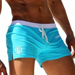 Wholesale mens bathing shorts - Sexy Men Swimsuit Men's Swimming Trunks for Bathing Gay Mens Swimwear Men Beach Swim Boxer board shorts swim