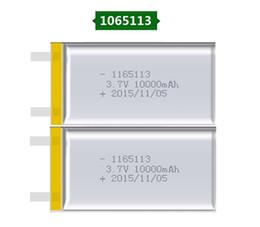 2019 bateria recarregável li ion polymer ithium bateria 2X 1065113 Real Capacidade 10000mAh Li-ion 3.7V Bateria Recarregável Polímero de Lítio Móvel Backup Power Digital Produtos Ta ... desconto bateria recarregável li ion polymer