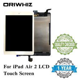 2019 display ipad air lcd Nuova sostituzione del gruppo di montaggio per iPad 6 Air 2 LCD Touch Screen Display Digitizer Glass senza Homebutton e colla display ipad air lcd economici
