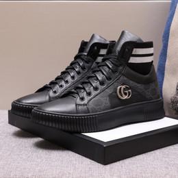Высококачественные повседневные туфли из натуральной кожи 2019 года Роскошные бренды Эксклюзивный дизайн для мужских кроссовки Многоцветный дополнительный размер: 38 --- 44 от