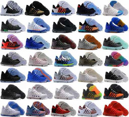 Wholesale golf series - 2018 KD 10 X Mens Basketball Shoes Kevin Durant 10s Orange Pure Platinum BHM Oreo Triple Lmtd City Series Features KD10 Sports Sneakers