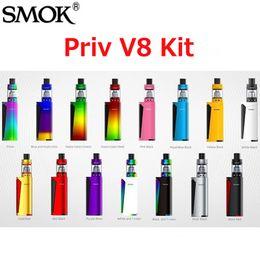 vaporizador cloutank m3 kit Rebajas Original Smok Priv V8 Starter Kits con 3ml TFV8 Baby Tank 60W Priv V8 TC Vape Mod Baby M2 Coil Dual LED indicadores 14 colores 100% Auténtico