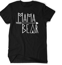 Wholesale Bear Families - Pkorli Family T Shirt Papa Bear Mama Bear Baby Beart-Shirts Letter Printed Funny Matching Couple T-Shirt Father Mother Baby YWXK
