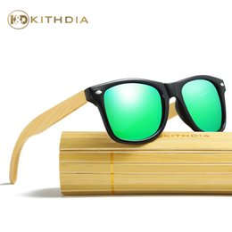 Wholesale Bamboo Picture Framing - Kithdia Black Frame Sunglasses Men Women Bamboo Legs Sunglasses Polarized and Support Drop Shipping   Provide Pictures #KD022