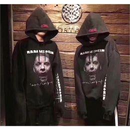 Wholesale zombie sweatshirt - 2018 New Vetements Sweatshirts Men Women Streetwear Oversize Vetements Hoodie Zombie Einstein Embroider Vetements Sweatshirts
