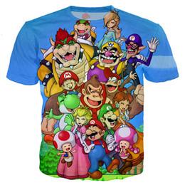 ba2ad84d4bb6 Classic Cartoon Games Super Mario Bros Women Men New Fashion Summer Unisex  Funny 3d Print Crewneck Casual T Shirt Tops Tee Q83