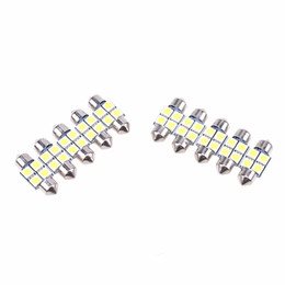 Canada 100X 5050 31mm 4SMD Voiture RV Intérieur Dôme Festoon Blanc LED Ampoules Lampe DC 12V Blanc Micro Universel Ampoules supplier rv interior led light bulbs Offre