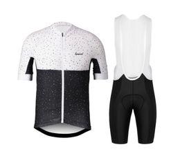 team cycle kit bib UK - Hot Sale 2018 Black white dots Team Pro cycling Jersey cycling kit short sleeve and bib shorts best quality cycling set Maglia
