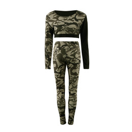 Wholesale Top Blouse Pant Set - Daddy Chen Women Tracksuit Camouflage Stitching Sweatshirt Sets Sportswear Suit Blouse Long-sleeve Tops and Pants Size S M L XL