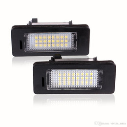 Wholesale Bmw E39 License Plate Light - LED License Plate Lights SMD3528 6000K Number Plate Light For BMW E82 E88 E90 E92 E93 E39 E60 Sedan M5 E70 X5 E71 E72 X6