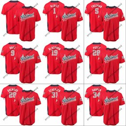 213ee7438 National League Jersey Mens Ozzie Albies Freddie Freeman Javier Baez Bryce  Harper Buster Posey Charlie Blackmon 2018 All-Star Game Jerseys