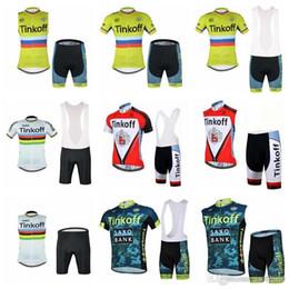 2c26a496e SAXO BANK TINKOFF team Cycling Short Sleeves jersey (bib) shorts Sleeveless  sets Bike Wear Quick Dry Bike Clothes size XS-4XL F603