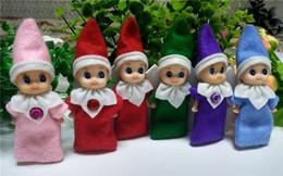 2019 i più nuovi di Natale mini bambola Elfo del bambino 7 colori per scegliere 50PCS / 100PCS / 200PCS / 300PCS / 500PCS / 1000PCS vacanze bambini regalo di Natale Capodanno da