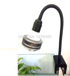 Wholesale fish grow light - led grow light clamp led Aquarium lamp clip Fish tank E27 lamp holder stent 360 degree gooseneck clamp E27 holder