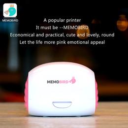 Wholesale Printer Office - MEMOBIRD pink Printer Wifi Portable Bluetooth Printing Barcode Wireless Pocket Thermal Printer Electronic Computer Office