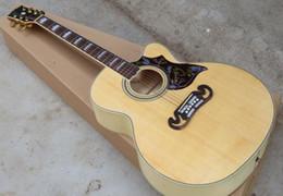 Top in abete naturale personalizzato da 41 pollici S.J.200 Pickups elettrico per chitarra acustica, inserto per tastiera in MOP bianco, accordatore di Gold Grover da mouse elettrico fornitori
