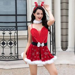 2019 vermisse santa Fräulein Santa Suit Erwachsene Sweetie Weihnachten Halloween Party Kostüm Verführerische Frauen Cosplay Kleid 6829 sexy günstig vermisse santa