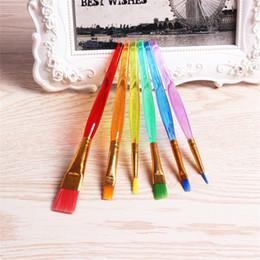 Yüksek Sınıf Boya Fırçası Çok Renkli Esnek Plastik Dayanıklı Zanaat Boyama Kalemler Kullanımlık Tırnak Fırçaları Kolu Taşınabilir Eko Dostu 2 8xq jj nereden