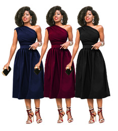 1fc5629a05b Summer Fashion Plus Size Women Clothing Casual Sleeveless Midi Dress Fit  and Flare Dresses for Party Gown Bodycon Dress