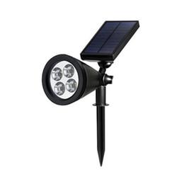 Wholesale Solar Led Outdoor Landscape Lighting - Solar Spotlight New 4 LED Solar Power Lights Garden Lawn Lamp Landscape Waterproof Outdoor courtyard Induction lamp