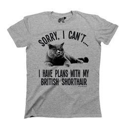 Planes de barco online-Detalles zu Sorry I Cant Tengo planes con mi BRITISH SHORTHAIR Cat T-Shirt Mens Ladies CATS Divertido envío gratis Unisex Casual camiseta de regalo