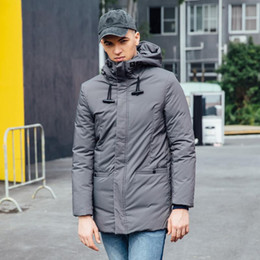 7a8b2fe8436 Down Jacket Mens Down Parka New Stylish Feather Coat 90% White Duck Down  Hoodie Men s Winter Long Coats