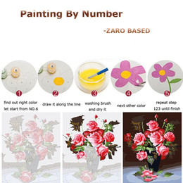 Wholesale paint number kit canvas - For Zero DIY Oil Acrylic Paint Drawing on Canvas Painting By Number Kit Arts Crafts Christmas Gift Based No Frame With OPP Bag