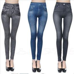 Wholesale trousers colors - 3 Colors Jean Skinny Jeggings Women Stretchy Denim Pants Leggings Jeans Pencil Tight Trousers Slim Leggings AAA187