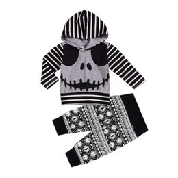 f5bfe767c2c18 Discount infant clothes skulls - Baby Boy Girl Clothing Set Halloween  Outfits Skull Hoodies Pants 2PCS