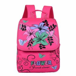 pink bags for flower girl Promo Codes - 2018 new arrive ultra light print flower mochila escolar school bags mochila infantil for girls student bag child backpack