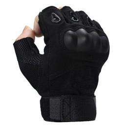 2019 luvas sem dedos crochet livre Forças especiais homens e mulheres esportes metade do dedo luvas luvas táticas Exército Combate slip slip fibra de carbono shell