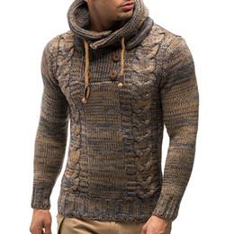 Kış erkekler vintage slim fit kapüşonlu kazak çekin homme erkekler moda sıcak örme kazak casual kruvaze kazak nereden
