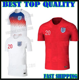 Wholesale National Teams - england soccer Jersey 2018 World Cup ROONEY home KANE STURRIDGE STERLING HENDERSON VARDY 18 19 Rashford national team football jersey shirts