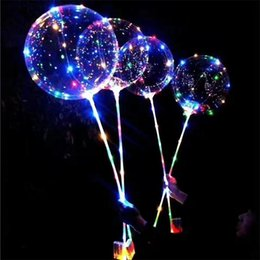 Wholesale Projector Star - LED lights colorful flashing luminous balloons wedding wedding party decorations holiday supplies color glow balloons and poles
