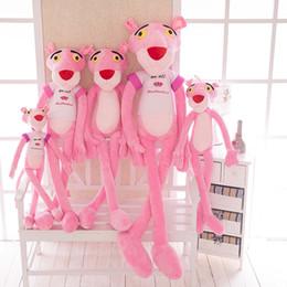 2019 giocattoli animali solidi Leopardo dalle lunghe zampe rosa appoggia le bambole animali di colore solido del cuscino molle della peluche del cuscino della bambola della peluche dei cuscini sconti giocattoli animali solidi