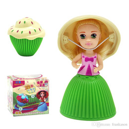 Wholesale Wholesale Cupcakes - Mini Cupcake Scented Princess Doll Reversible Cake Debbie Lisa Etude Britney Kaelyn Jennie with 6 Flavors Magic Toys for Girls