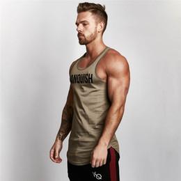 армия зеленый майка мужчины Скидка 2018 Gyms Tank Tops Мужчины Упругие хлопчатобумажные жилеты O-образным вырезом Gyms Tank Top Мужчины без рукавов Рубашки Мышцы Men Fitness Tops