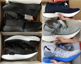Wholesale Instant Black - 2018 Top Quality Epic React Instant Go Fly Breath Comfortable Sport Boost Size 7-10 Mens Running Shoes For Sale Men Athletic Sneakers