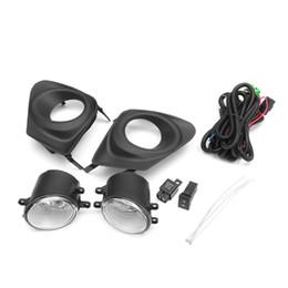 2019 lampe antibrouillard pour toyota corolla 2pcs pare-chocs avant gauche droite lampe de feux de brouillard w / interrupteur H11Bulb + couvercle de la grille 2pcs pour Toyota Corolla 2011-2013