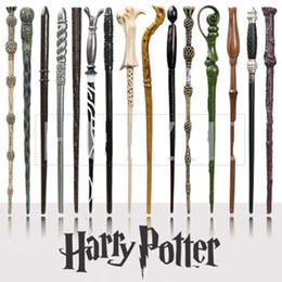 Wholesale magic wand for kids - Harry Potter Magic Wand Creative Cosplay 18 Styles Hogwarts Harry Potter Series New Upgrade Resin Non-luminous Magical Wand For Big Kids Toy